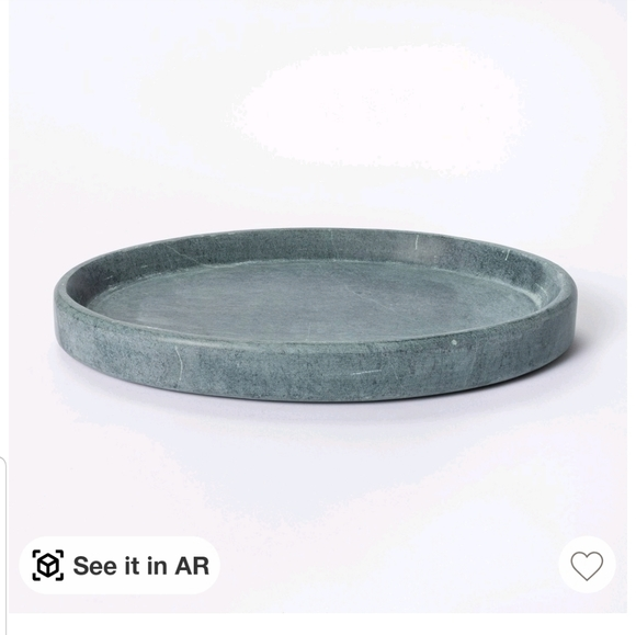 Oval soapstone tray grey